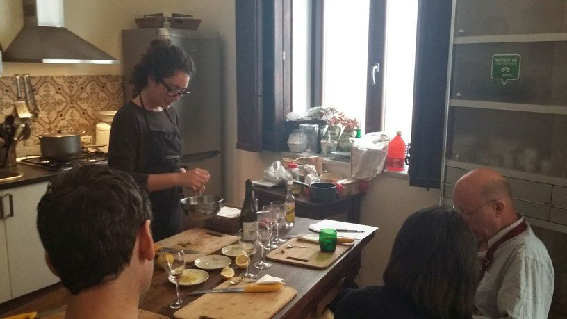 Giuliana Nocera Cooking Lesson Palermo